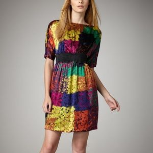 Trina Turk Fosse Shanghai multi color silk dress 4